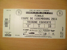 Ticket: FINAL COUPE DE LUXEMBOURG 29 MAY 2011: TRIBUNE COUVERTE