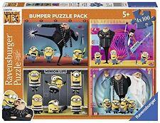 DESPICABLE ME 3 BUMPER PUZZLE PACK  - 4 x 100 PIECE JIGSAWS - RAVENSBURGER - NEW
