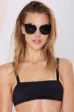 Nasty Gal Women's Black Damn Straight Bikini Top - Size M