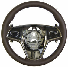 2013-2014 Cadillac ATS Steering Wheel W/Paddle Shifters Brown Leather 23455852