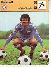 FOOTBALL carte joueur fiche photo MICHEL PLATINI équipe FRANCE