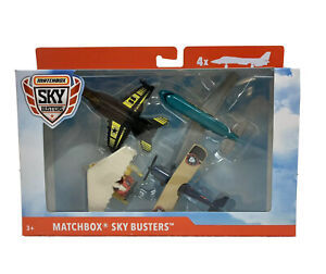 Matchbox Sky Busters 4-Pack Diecast Airplanes Jets Sealed Box
