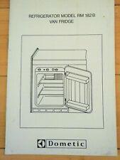 Volkswagen Vanagon Westfalia Dometic Refrigerator 182B User Manual + Service