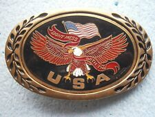 VINTAGE EAGLE MAN BELT BUCKLE ARMY? DECORATIVE Accessory DON`T MESS WITH THE USA