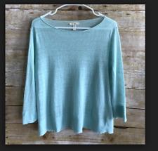 Eileen Fisher womens sweater blue blouson style