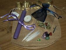 - Wiccan/pagano abbondanza INCANTESIMO INCS-Wiccan Rede & Istruzioni, sacchetto di tela di iuta vendita.