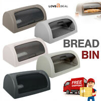 Hygiene Plastic Bread Bin Retro Kitchen Food Storage Loaf Roll Top Container Box