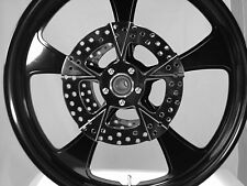 23 x 3.75 HARLEY STREET GLIDE GLOSS BLACK ROCK STAR ABS WHEEL WITH ROTORS