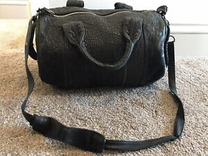 Alexander Wang Rocco Bag Black Pebbled Leather