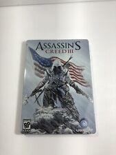 Assassin's Creed III 3 Pre-Order Bonus Steelbook Case rare free ship - NO GAME