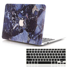 Deep Blue Marble Hard Case + Keyboard Cover For Macbook Air 13'' A1369 / A1466