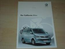 49992) VW Bus T5 California Biker Prospekt 11/2008