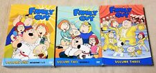Lot of 3 FAMILY GUY DVD Volumes 1 2 3 Seasons 1 2 3 Part of 4 Box Sets 10 Discs