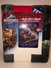 Jurassic World Rumble in Jungle Silky Soft & Cuddly Throw 40x50 A3325Q