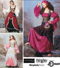 PATTERN for Gypsy Princess Celtic Costume Simplicity 9966 6-12 dress Esmeralda
