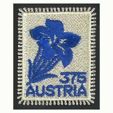 Austria 2008 Textile/Fabric Stamp Embroidered With Alpine Flower MUH Scott 2175