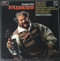 PHILIPS 6769 060-VERDI-FALSTAFF-KARAJAN-ORIGINAL VINYL 3-LP BOX SET-RARE-OOP