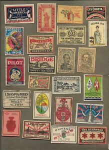 WORLDWIDE MATCHBOX LABELS ON AND OFF PAPER LOT 20