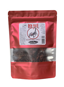 Scorpion Chili Peppers 25 Dried Whole Trinidad Moruga Pods Red Tail Extra Hot