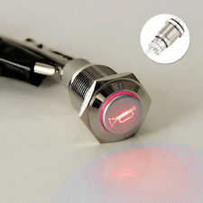 Willkey 16mm auto Car Boat LED Light Metal Horn Push Button Waterproof Switch