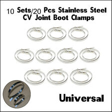 10X UNIVERSAL STAINLESS STEEL CLAMP CLIP SET FOR DRIVESHAFT CV JOINT BOOT KITS
