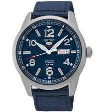 Seiko 5 Sports SRP623 K1 Blue Nylon Strap Automatic Men's Watch With Seiko Box