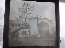 British Architecture Arch Tea House Terrace Edwardian Glass Magic Lantern Slide