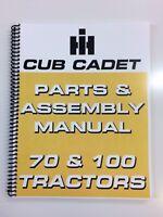 International Harvester Cub Cadet 100 Tractor Parts Manual Assembly Manual