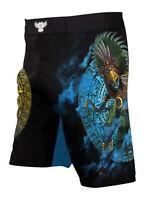 Raven Fightwear Men's Huitzilopochtli Aztec MMA Shorts Black