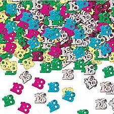 Coriandoli multicolore metallici compleanno adulto per feste e party