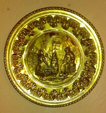 "Vintage 12"" Hammered Brass Wall Plate  England"