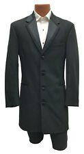 Boys Size 12 Black Perry Ellis Vail Tuxedo Frock Coat Long Jacket Western Duster