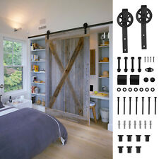 Merveilleux 7.9 FT Sliding Barn Door Hardware Track Kit Closet Antique Country Style  Black