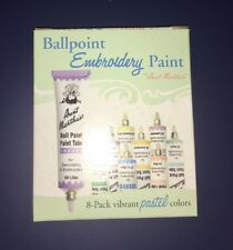 Ballpoint Embroidery Paint 8 Colour Set By Aunt Martha's Decorating