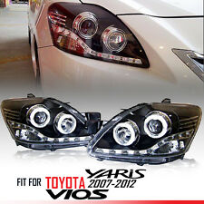 CCFL Black Projector Head light LED For Toyota Vios Yaris Belta 08 09 10 11 12