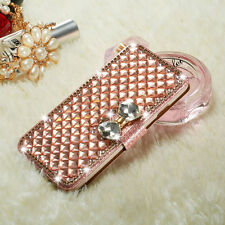 Bling Diamond Bowknot Crystal Flip Wallet Case Cover Shell For Samsung Galaxy S8