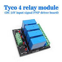 OEG DC 24V 4 Channel Relay Module Four panels Driver Board Socket PNP