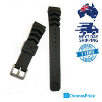 SEIKO Genuine Watch Band Z20 Black 100% Wave Rubber Diver 20mm Straps