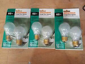 3) 2 Pack Sylvania A15 Garage Door Bulbs 60W Ceiling Fan, Appliance NEW