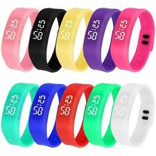 Mini Colourful LED Sports Running Watch Date Rubber Bracelet Digital Wrist Watch