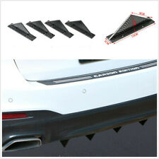 4Pcs Rear Bumper Lip Flat Spoiler Diffuser Shark Fin Universal Car Accessories