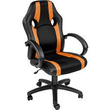 Sedia da ufficio poltrona direzionale girevole per casa studio sportiva arancion