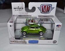 2017 M2 MACHINES AUTO THENTICS 1953 VW BEETLE DELUXE U.S.A. MODEL GREEN VW04