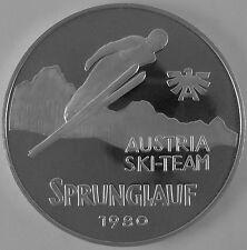 """Österreich 500 Schilling 1980 Silber Casinos Austria """"ÖSV Sprunglauf"""""""