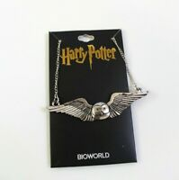 Harry Potter Hedwig In Flight Metal Necklace Silver Tone