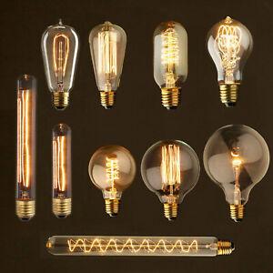 Vintage E27 40W LED Edison Bulb Filament Light Industrial Deco Warm White Lamp T