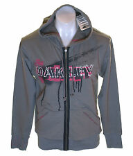 Authentic Men's Oakley Tiled ZIPPED Hoodie Sweatshirt Jumper Grey L