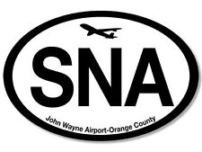 "5"" sna john wayne international airport orange county car bumper sticker decal"
