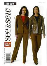 Patron de couture BUTTERICK See & Sew femmes' Veste & pantalons taille 6 - 22