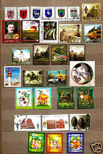 Latvia 2007 full year stamp set  ,Arhitekture , scout - eiropa cept USED 30 pcs